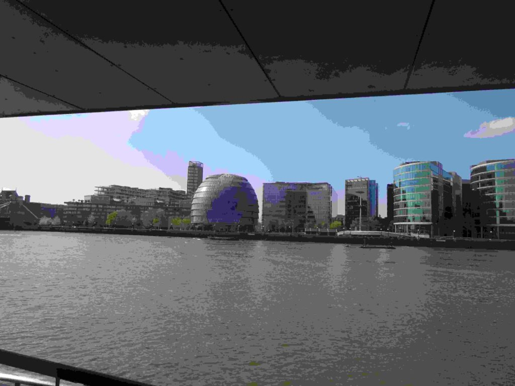 River Thames from the Uber riverboat as we leave Tower towards Wesminster