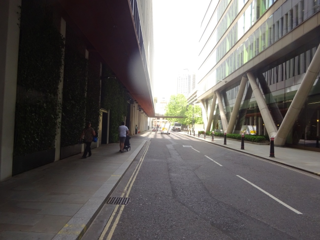 Fore street, the original London Wall in June 2021