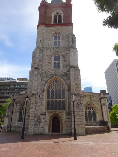 St Giles Cripplegate church in June 2021