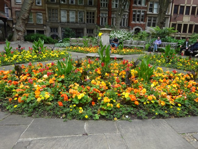 Postmans Park on a sunny day in July 2021 - the flowers are gorgeous