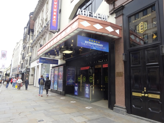The Adelphi Theatre,  409-412 Strand, London  -  in October 2021