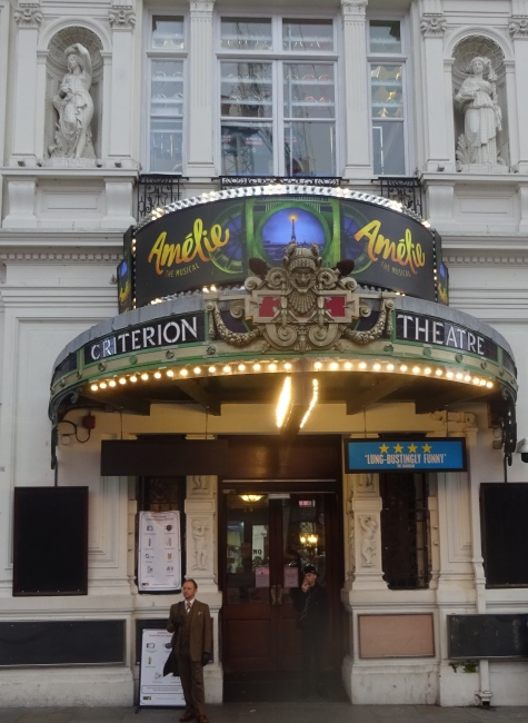 Criterion Theatre, Piccadilly Circus in October 2021
