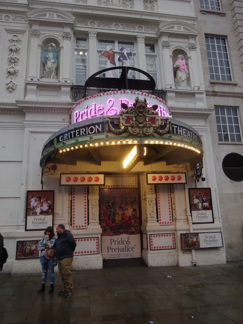 Criterion Theatre, Piccadilly Circus in 18th October 2021 with new signage