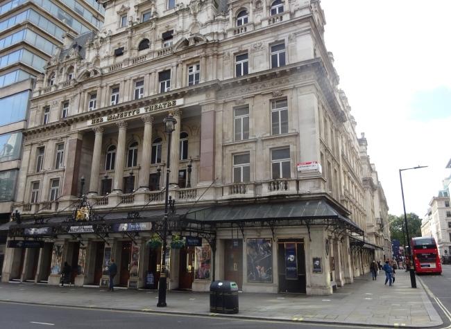 Her Majesty's Theatre, Haymerket - in October 2021
