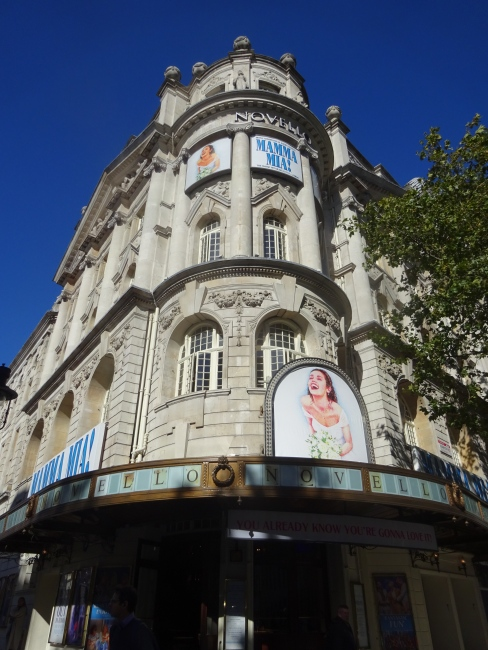 Novello Theatre - Mamma Mia at 5 Aldwych, London, WC2B 4LD  in October 2021