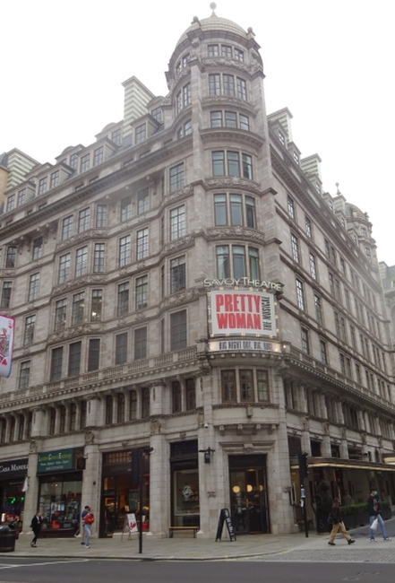 Cafe by the Savoy Theatre,  Strand, London in October 2021