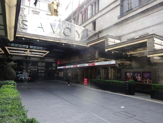 Savoy Theatre,  Strand, London in October 2021