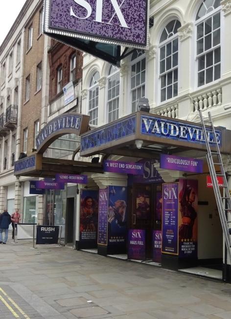 Vaudeville Theatre, 404 Strand, London  in October 2021