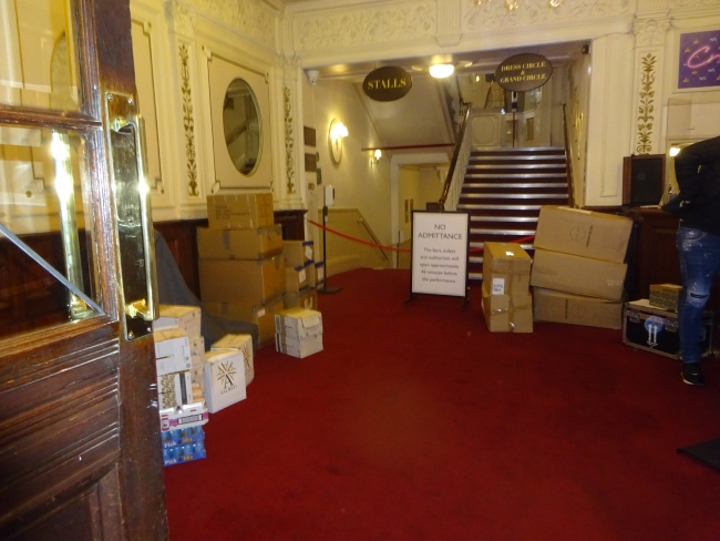 Vaudeville Theatre foyer,, 404 Strand, London  in October 2021 - maybe they were closed